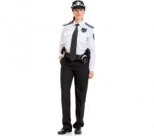 Özel Güvenlik Gömleği Beyaz Kravat Yaka Kışlık