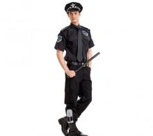Özel Güvenlik Gömleği Erkek Siyah Kravat Yaka Yazlık Modelli Pantolon