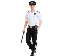Özel Güvenlik Gömleği Beyaz Apaş Yaka Yazlık Modelli Pantolon