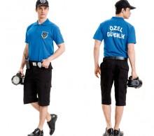 Özel Güvenlik Tişörtü Polo Pike Saks Mavi Lakost Bermuda Komando Cepli Şort Pantolon