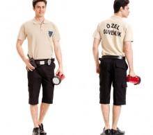 Özel Güvenlik Tişörtü Lakost Polo Pike Bej - Krem Renk Bermuda Komando Cepli Şort Pantolon