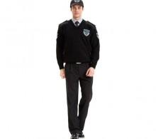 Özel Güvenlik Kazağı Siyah V Yaka - Kışlık Siyah Pantolon