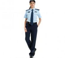 Zabıta Gömleği Mavi Kravat Yaka Yazlık Bayan
