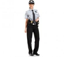 Özel Güvenlik Bayan Gömleği Yazlık Gri Kravat Yaka