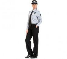 Özel Güvenlik Bayan Gömleği Gri Kravat Yaka Kışlık