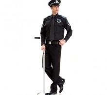 Özel Güvenlik Gömleği Erkek Siyah Kravat Yaka Kışlık Uzun