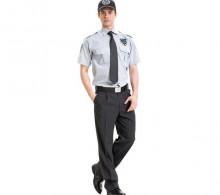 Özel Güvenlik Erkek Gömleği Yazlık Gri Kravat Yaka Füme Pantolon