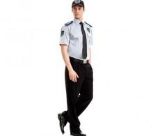 Özel Güvenlik Erkek Gömleği Yazlık Gri Kravat Yaka Siyah Pantolon