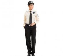 Özel Güvenlik Gömleği Krem Uzun Kol Kravat Yaka