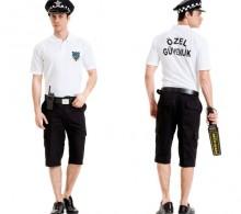 Özel Güvenlik Tişörtü Lakost Polo Pike Beyaz Bermuda Komando Cepli Şort Pantolon