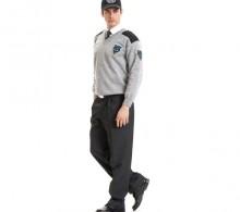 Özel Güvenlik Kazağı Gri V Yaka - Kışlık Füme Pantolon
