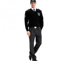 Özel Güvenlik Kazağı Siyah V Yaka - Kışlık Füme Pantolon