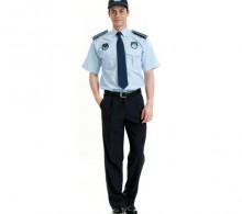 Zabıta Gömleği Mavi Kravat Yaka Yazlık Erkek