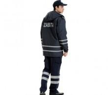 Zabıta Kabanı Lacivert Çift Sıra Reflektörlü Komando Cepli Pantolon