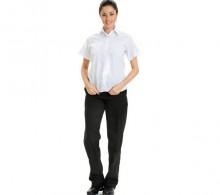 Beyaz Gömlek Yazlık Kısa Kol Bayan